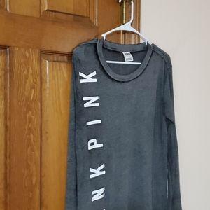 PINK Victoria's Secret Tops - Medium gray long sleeve Pink Victoria Secret top
